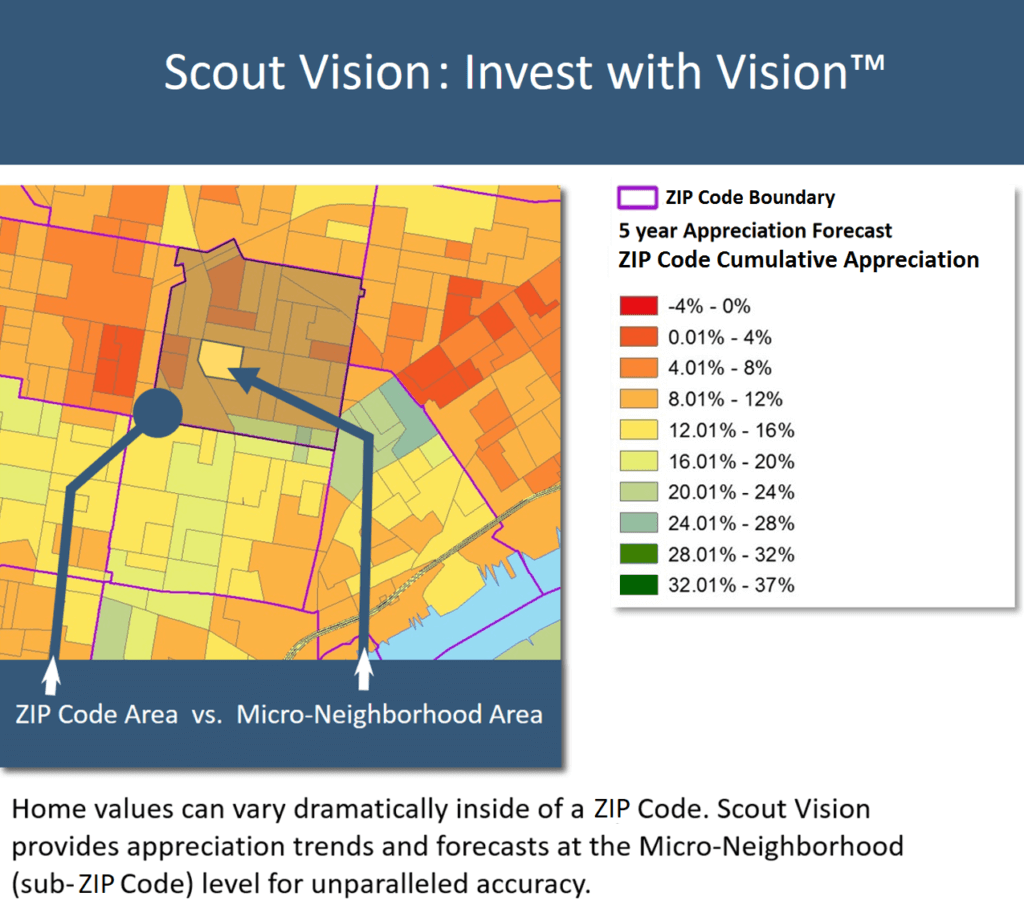Scout Vision® Home Price Forecast: The Top 10 Zip Codes You